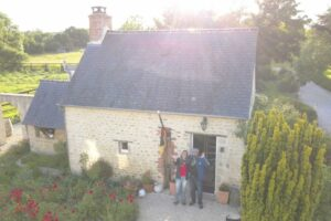 cottage drone